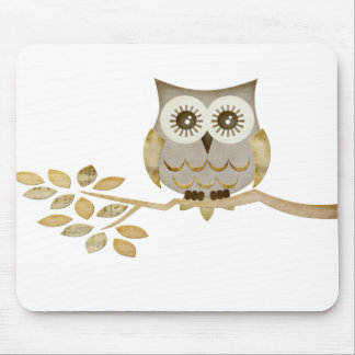 Wide Eyes Owl in Tree Mousepad