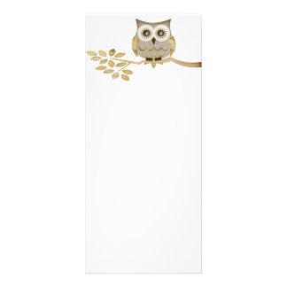 Wide Eyes Owl in Tree Rack Card
