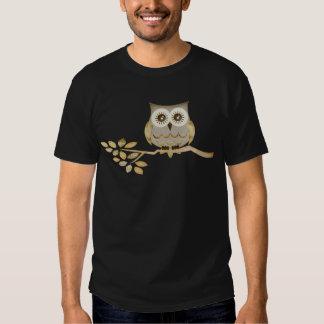 Wide Eyes Owl in Tree T-Shirt