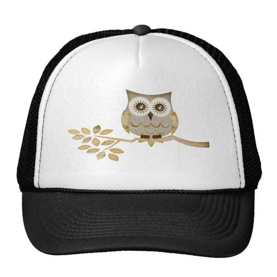 Wide Eyes Owl in Tree Trucker Hat