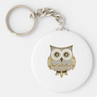 Wide Eyes Owl Keychain