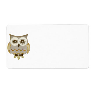Wide Eyes Owl Label