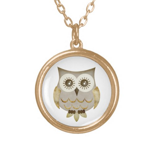 Wide Eyes Owl Necklace