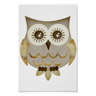 Wide Eyes Owl Poster