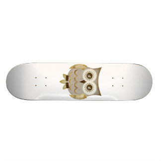 Wide Eyes Owl Skateboard