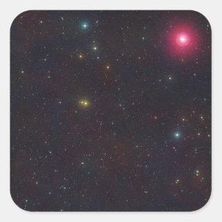 Wide Field View Constellation Cetus Stars Square Sticker