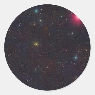 Wide Field View Constellation Cetus Stars Round Stickers