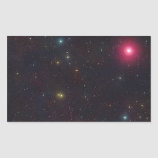 Wide Field View Constellation Cetus Stars Rectangle Stickers
