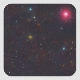 Wide Field View Constellation Cetus Stars Square Stickers