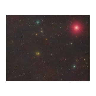 Wide Field View Constellation Cetus Stars Wood Print