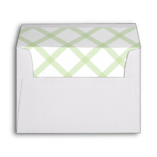 Wide Gingham Pattern Lined Envelope Mint