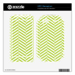 wide Herringbone pattern in lime & white Decals For HTC Sensation