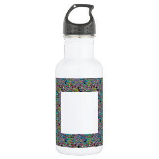 WIDE Jewel FRAME :  DIY add Text Image Customize 18oz Water Bottle