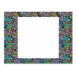 WIDE Jewel FRAME :  DIY add Text Image Customize Post Card