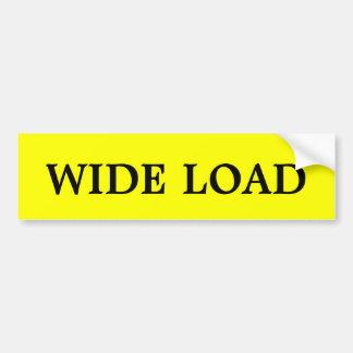 Wide Load Bumper Sticker