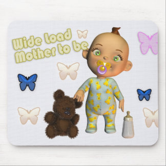 Wide load pregnancy baby, mother to be mouse pad