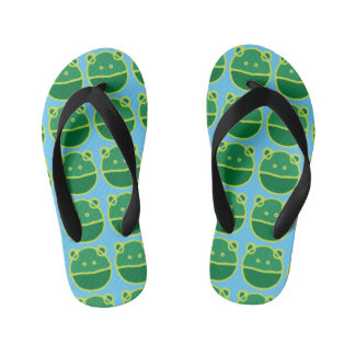 Wide mouthed frogs kid's flip flops