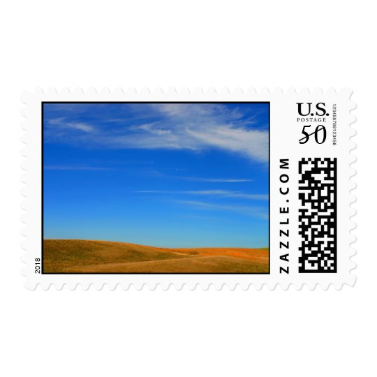 Wide open land and sky photo postage stamps
