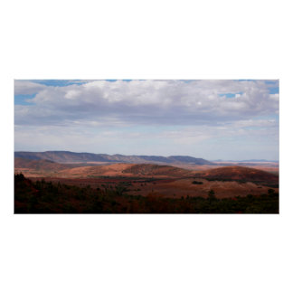 Wide open space of the Australian outback Poster