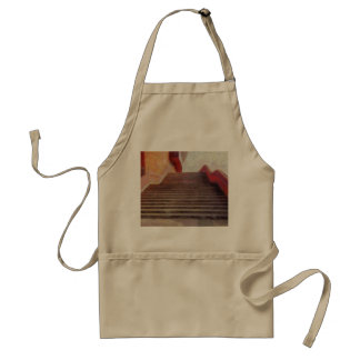 Wide open stairs adult apron