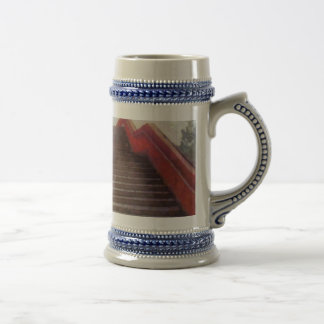 Wide open stairs beer stein