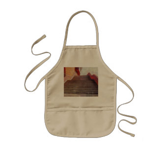 Wide open stairs kids' apron