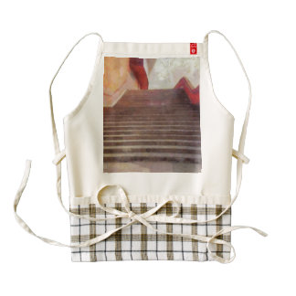 Wide open stairs zazzle HEART apron