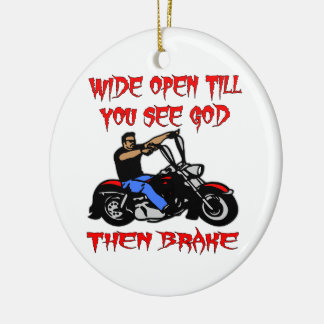 Wide Open Till You See God Then Brake Double-Sided Ceramic Round Christmas Ornament
