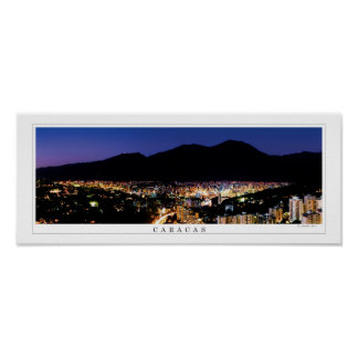 wide panoramic poster of Caracas Avila mountain