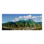 wide panoramic view of Avila National Park -2:1 Poster