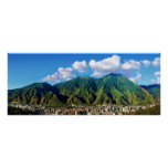 wide panoramic view of Avila National Park Poster