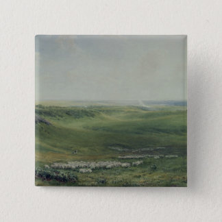 Wide Pastures, Sussex Pinback Button