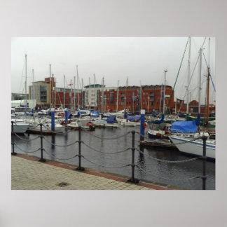 Wide Photo Shot Of The Hull Marina Print