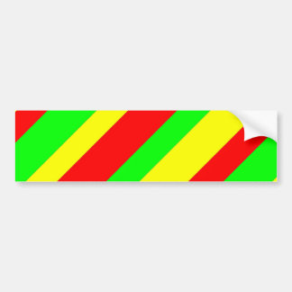 Wide Rasta Stripes Bumper Sticker