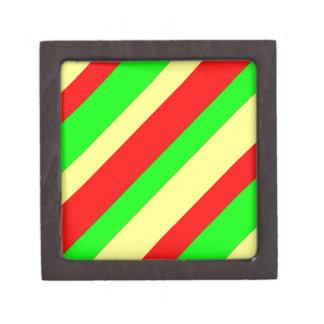 Wide Rasta Stripes Keepsake Box