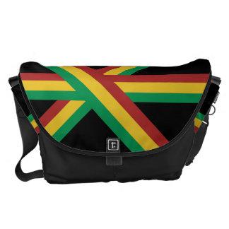 Wide Rasta Stripes Messenger Bag