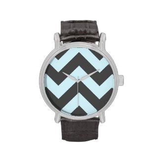 wide rickrack zigzag pattern watch