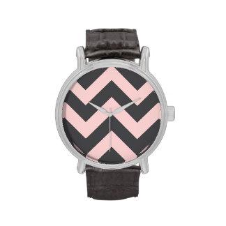 wide rickrack zigzag pattern wrist watches