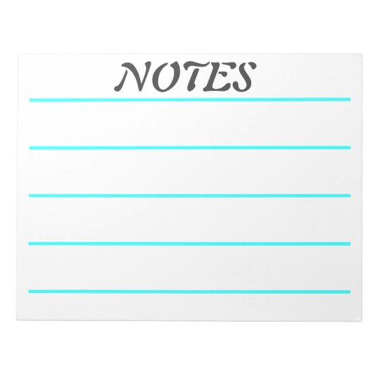 Wide Rule Turquoise Lined Note Paper Zazzle Com