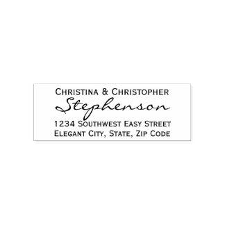 Wide Script Custom Return Address Stamp
