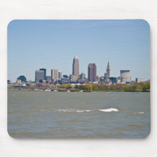 Wide Shot Cleveland Skyline Mouse Pads