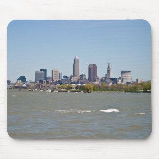 Wide Shot Cleveland Skyline Mouse Pad