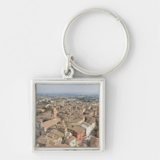 Wide shot of the hill town of Siena, Italy, Keychain