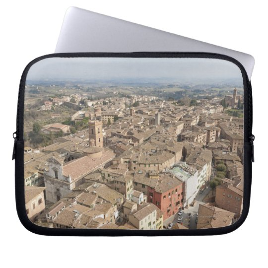 Wide shot of the hill town of Siena, Italy, Laptop Sleeve