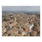 Wide shot of the hill town of Siena, Italy, Poster