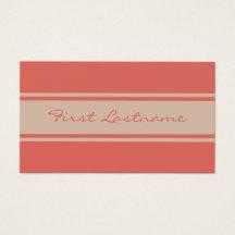 Wide Stripes custom business cards
