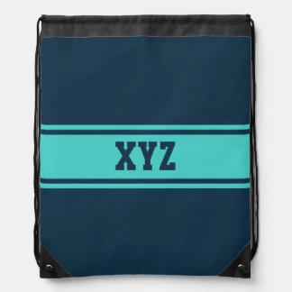 Wide Stripes custom monogram bag Drawstring Backpacks
