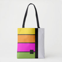 Wide Stripes Tote Bag in Rainbow