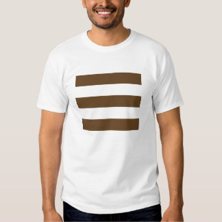 Wide Stripes - White and Dark Brown Shirt