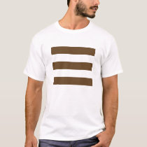 Wide Stripes - White and Dark Brown T-Shirt